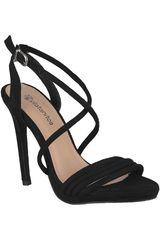 Sandalia de Mujer Platanitos Negro SV 3902