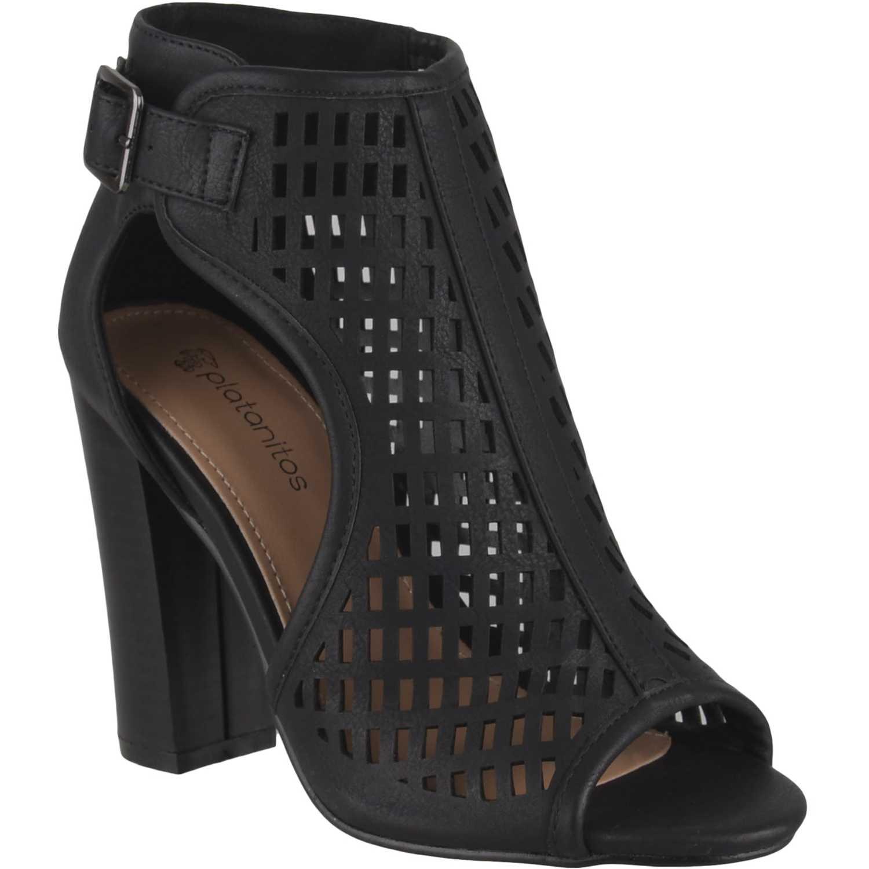 Sandalia de Mujer Platanitos Negro sbt 140