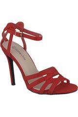 Platanitos Rojo de Mujer modelo SV 943 Sandalias Tacos Vestir