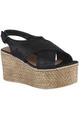 Platanitos Negro de Mujer modelo SPW 9293 Plataformas Cuña Sandalias