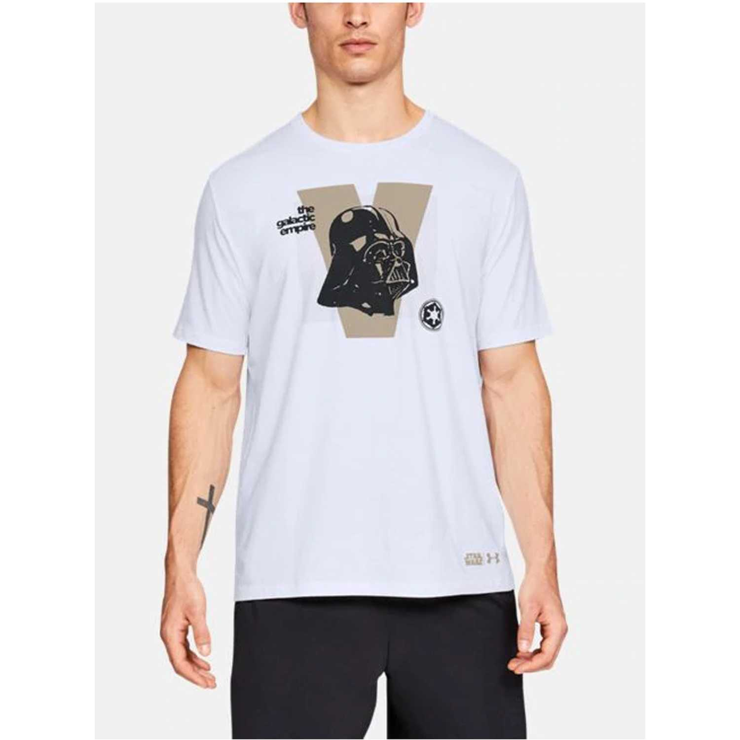 Polo de Hombre Under Armour Blanco darth vader ss t