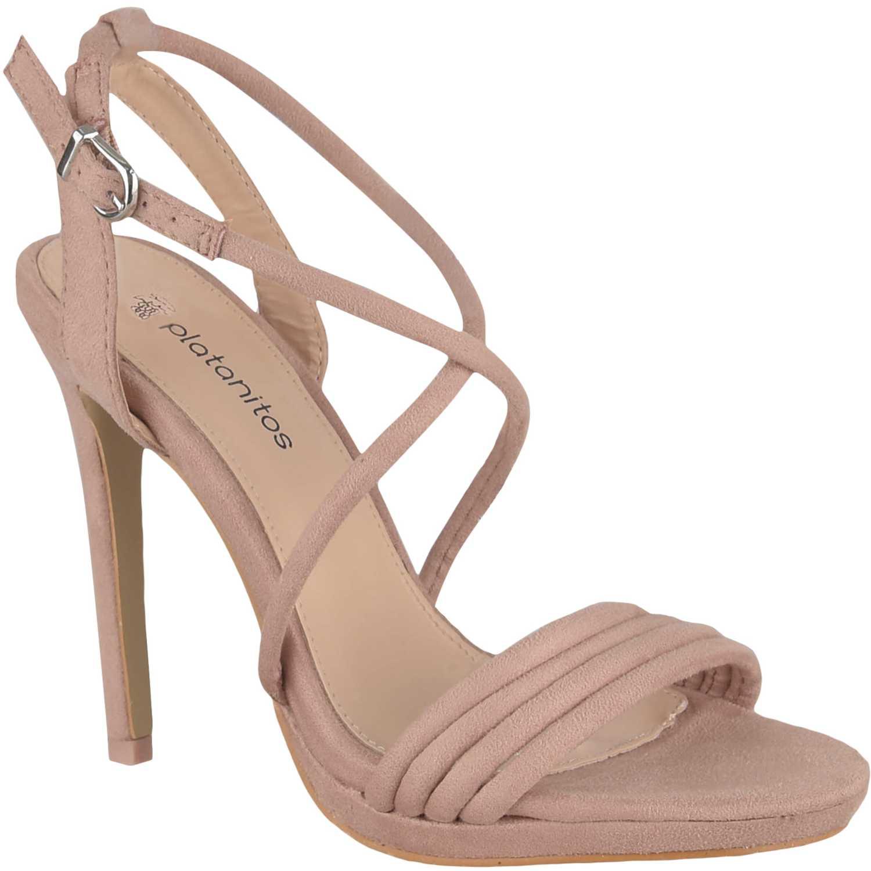 Sandalia de Mujer Platanitos Rosado sv 3902