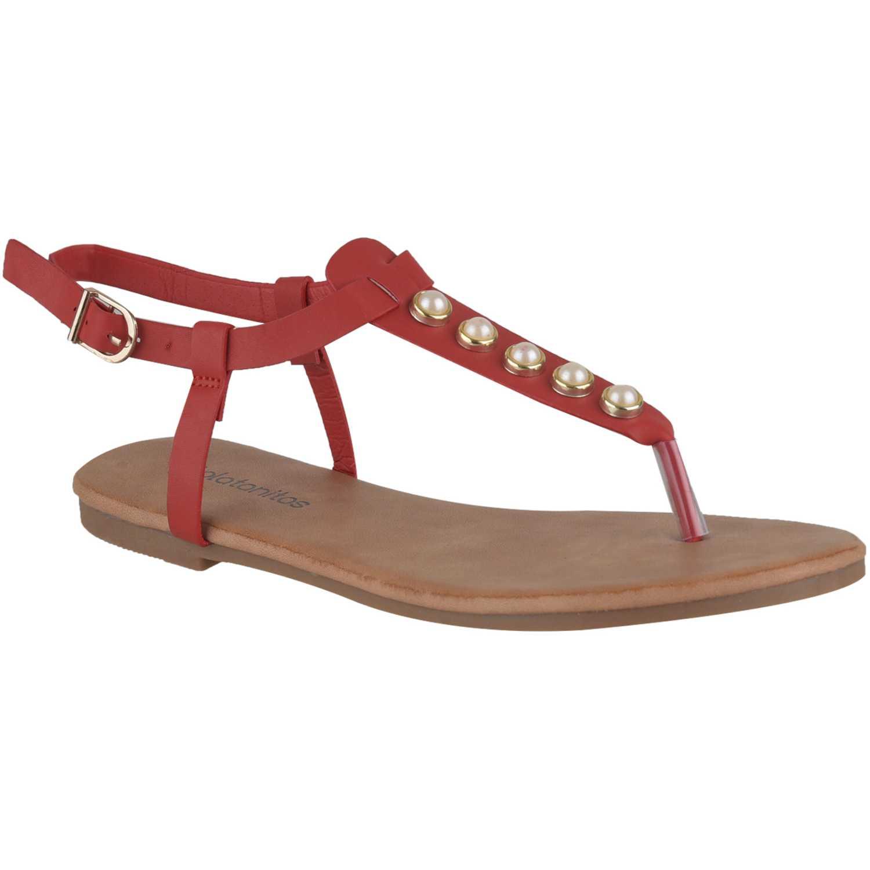 Flat de Mujer Platanitos Rojo sf 6652