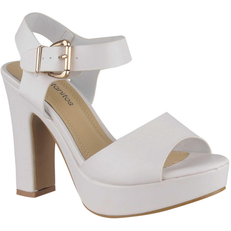 Sandalia Plataforma de Mujer Platanitos Blanco sp 823