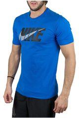 Polo de Hombre Nike Celeste M NSW TEE NIKE BLOCK SWOOSH