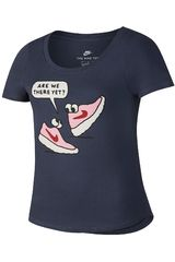 Nike Azul de Niña modelo G NSW TEE ARE WE THERE Deportivo Polos