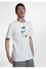 Nike Blanco de Hombre modelo m nk sb tee futura Deportivo Polos