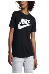 Nike Negro / blanco de Mujer modelo W NSW ESSNTL TEE HBR Deportivo Polos