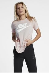 Nike Rosado / Blanco de Mujer modelo W NSW ESSNTL TEE HBR Deportivo Polos