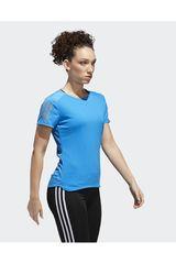 adidas Celeste de Mujer modelo RS SS TEE W Polos Deportivo