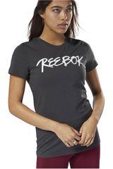 Reebok Negro de Mujer modelo GS OPP Script Reebok Tee Polos Deportivo