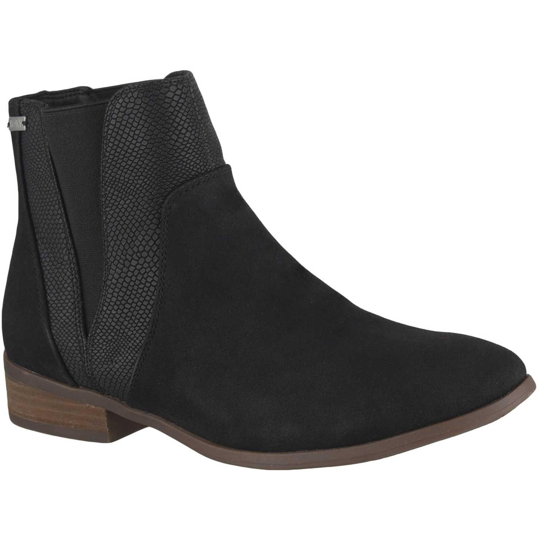Botín de Mujer Roxy Negro linn mid-heel boots