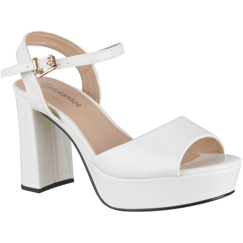 Sandalia Plataforma de Mujer Platanitos Blanco sp 12