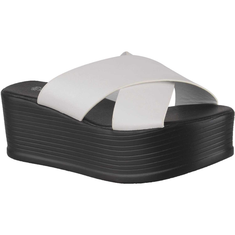 Sandalia Plataforma de Mujer Platanitos Blanco spw 069