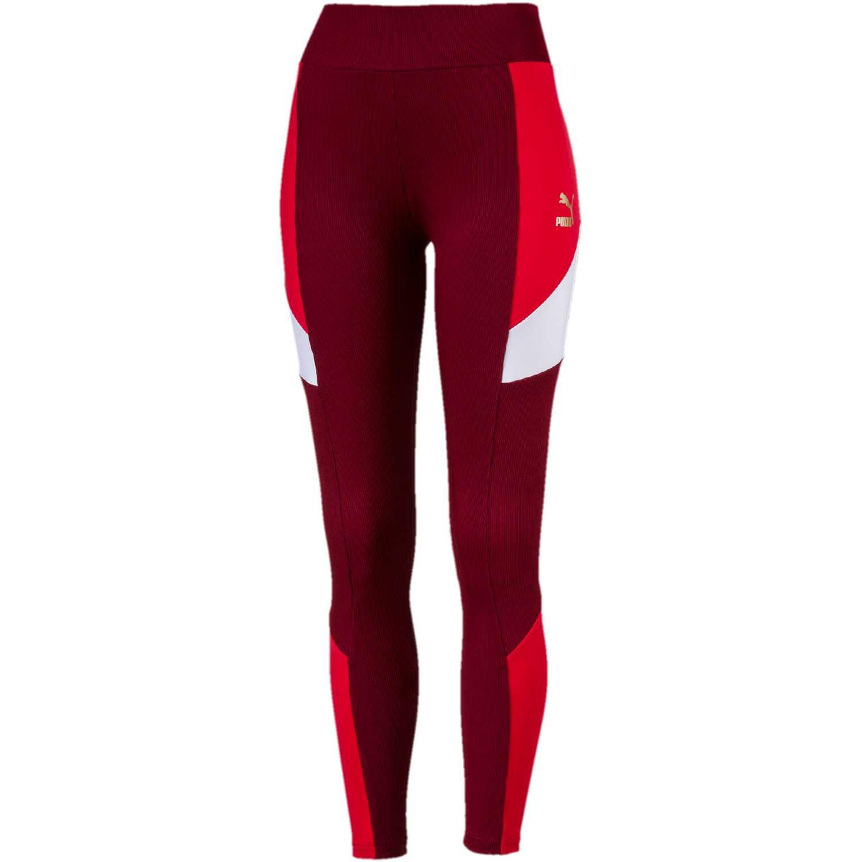 Pantalón de Mujer Puma Rojo / blanco retro rib legging