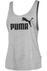 Polo de Mujer Puma Gris / Negro ESS Logo Tank