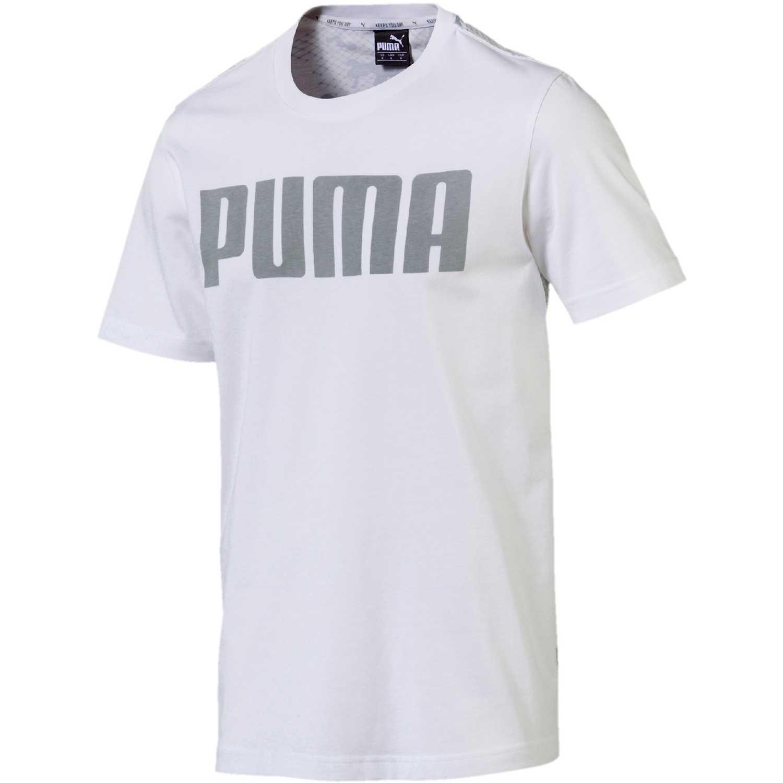 Polo de Hombre Puma Blanco / gris modern sports relax tee