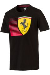 Polo de Hombre Puma Negro / amarillo SF Big Shield Tee