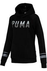 Polera de  Puma Negro / Blanco ATHLETIC Hoody TR