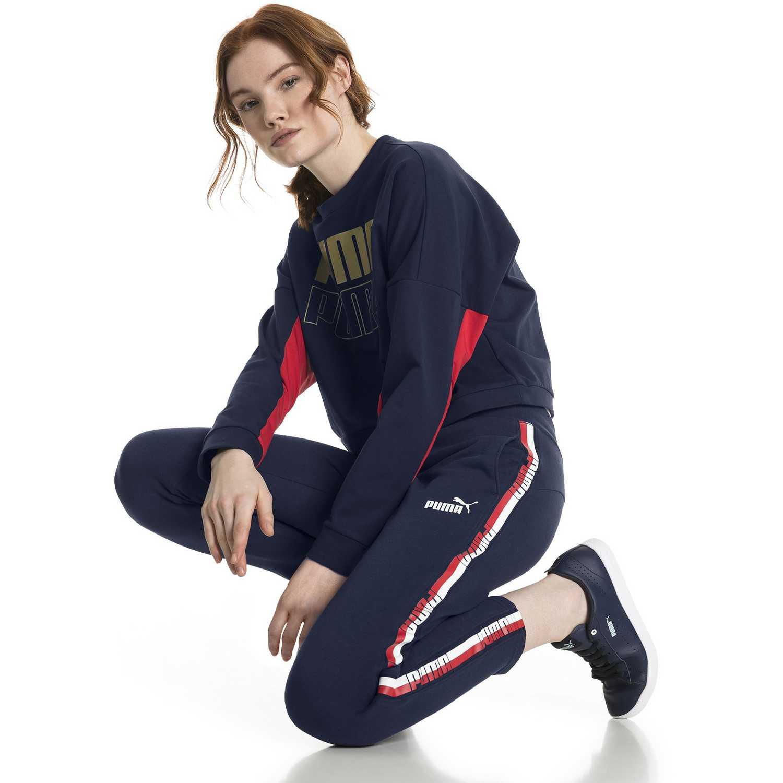 Pantalón de Mujer Puma Azul tape pants tr op  a645b217ae5d