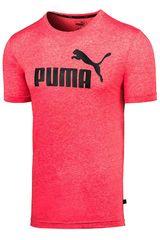 Polo de Hombre Puma Rojo ESS+ Heather Tee