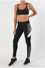 Pantalón de Mujer Puma Negro /Gris Retro Rib Legging
