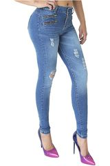 COTTONS JEANS Azul de Mujer modelo ISABEL Pantalones Casual Jeans