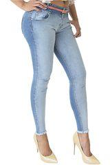 COTTONS JEANS Celeste de Mujer modelo LORENA Casual Pantalones Jeans