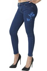 Jean de Mujer COTTONS JEANS Azul paola