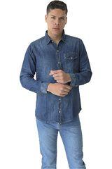 Camiseta de Hombre COTTONS JEANS Azul TOBIAS