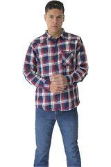 Camisa de Hombre COTTONS JEANS Rojo / azul RENNY