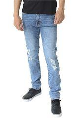 COTTONS JEANS Celeste de Hombre modelo RENATO Casual Pantalones Jeans