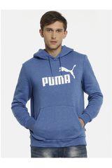 Puma Azulino / blanco de Hombre modelo ESS+ Hoody TR Poleras Deportivo