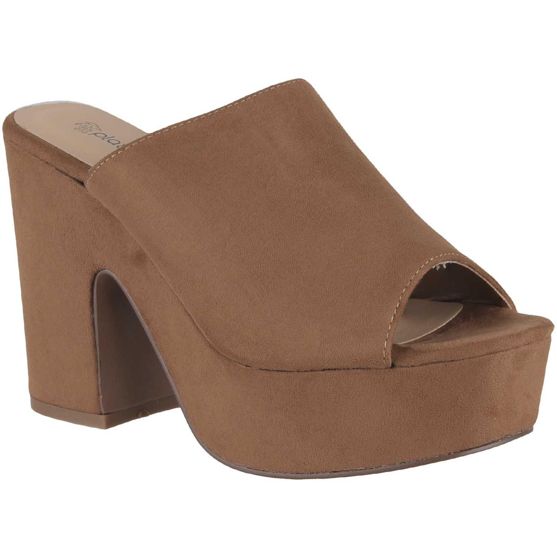 Sandalia Plataforma de Mujer Platanitos Camel sp 266