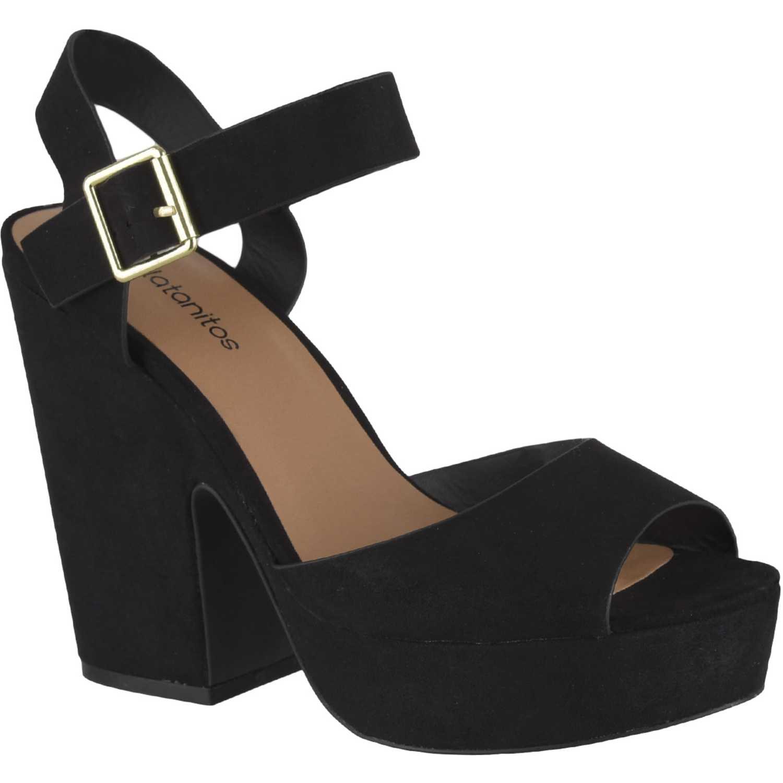 Sandalia Plataforma de Mujer Platanitos Negro sp gavin01
