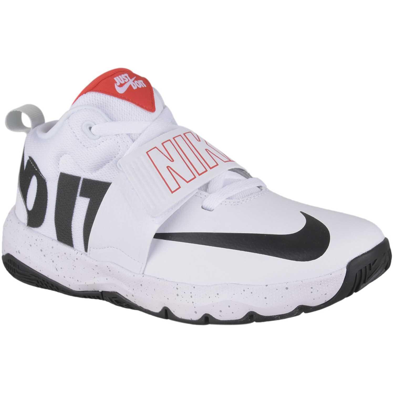 Zapatilla de Jovencito Nike Blanco / negro team hustle d 8 jdi bg