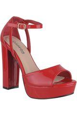 Platanitos Rojo de Mujer modelo SVP 87 Vestir Tacos Plataformas Sandalias