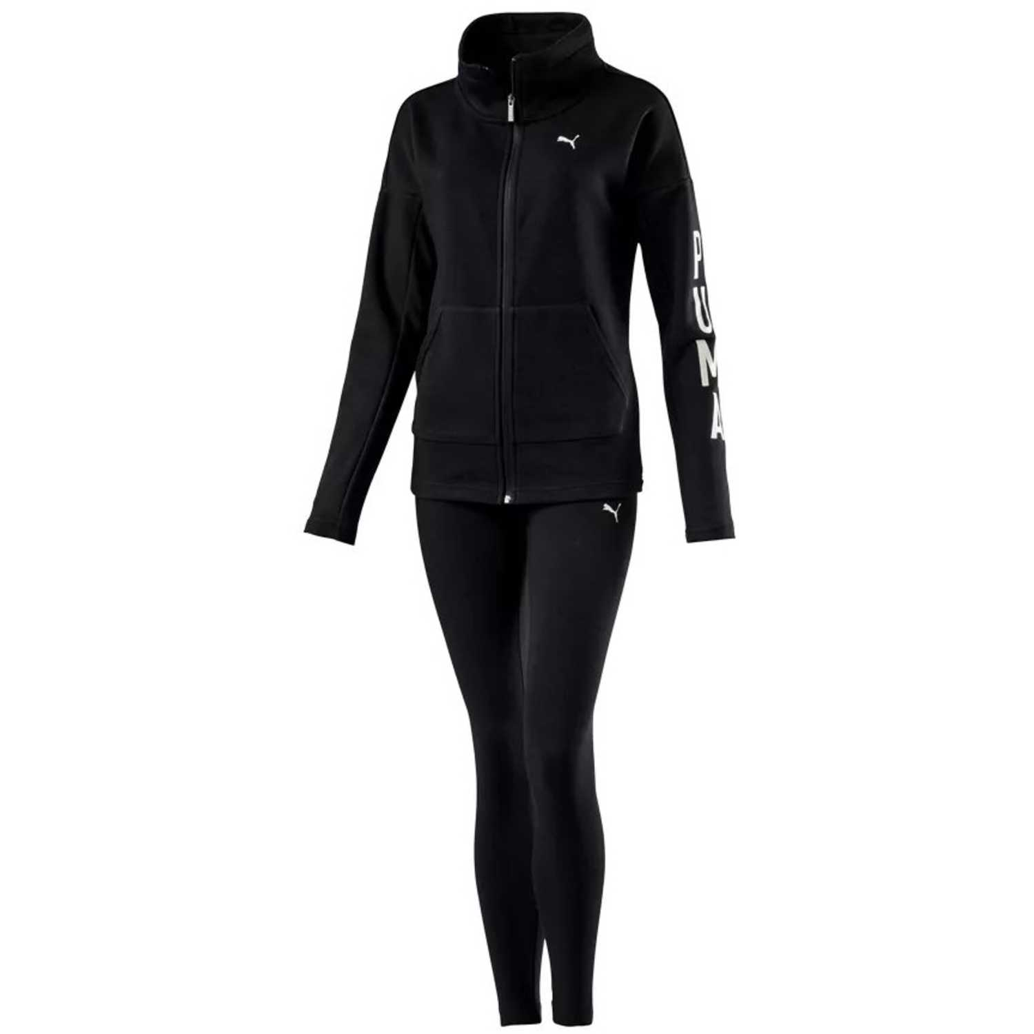 Buzo de Mujer Puma Negro graphic legging sweat suit