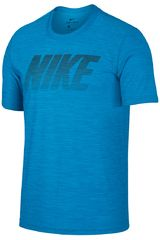 Nike Celeste de Hombre modelo M NK BRT TOP SS DRY GFX Polos Deportivo