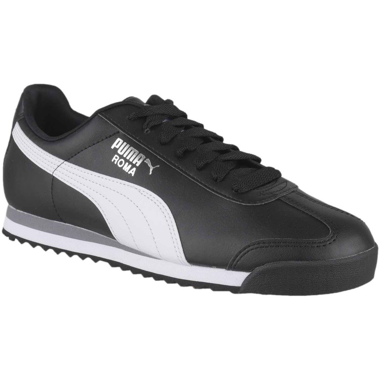 Zapatilla de Hombre Puma Negro / blanco roma basic