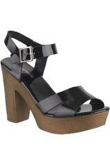 Platanitos Negro de Mujer modelo SP 2A95 Tacos Casual Sandalias Plataformas
