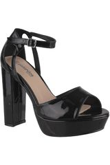 Platanitos Negro de Mujer modelo SVP 87 Vestir Tacos Plataformas Sandalias