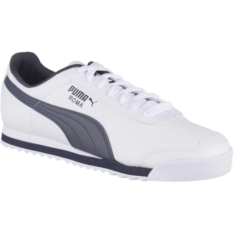 9d608920d Zapatilla de Hombre Puma Blanco   azul roma basic