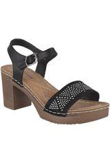 Platanitos Negro de Mujer modelo SP 2063 Plataformas Sandalias Tacos Casual