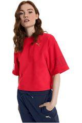 Puma Rojo / blanco de Mujer modelo MODERN SPORT Sweat Tee Polos Deportivo