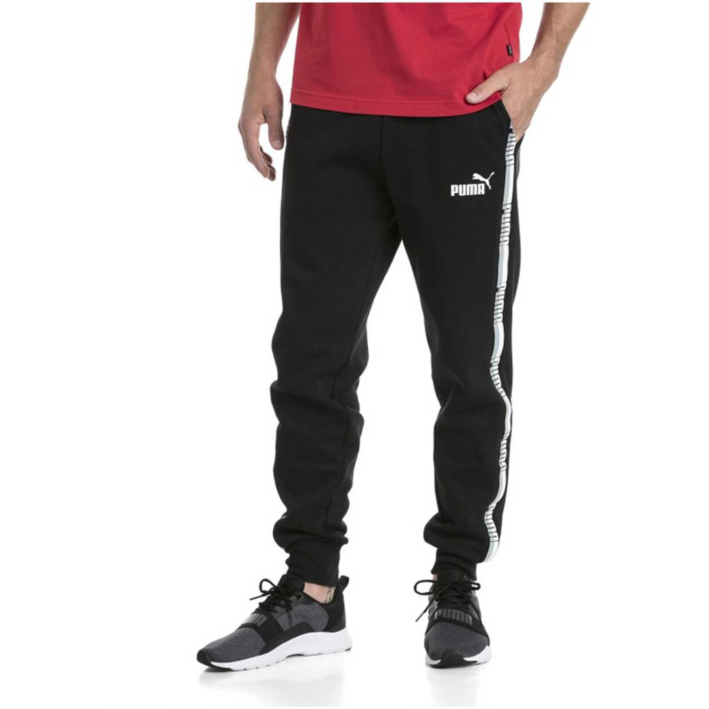 Pantalón de Hombre Puma Negro   blanco tape pants  6dada759f100