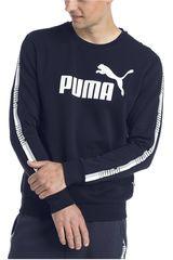 Polera de Hombre Puma Azul / blanco Tape Crew Sweat