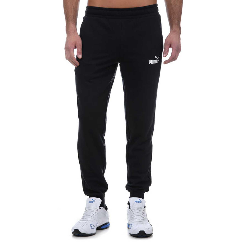 Pantalón de Hombre Puma Negro   blanco ess logo pants tr cl ... 4f99e531621f