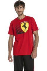 Puma Rojo / amarillo de Hombre modelo SF Big Shield Tee Deportivo Polos