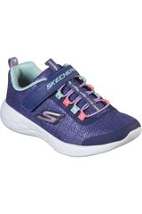 Skechers Morado / celeste de Niña modelo GO RUN 600 Urban Walking Zapatillas Casual Deportivo